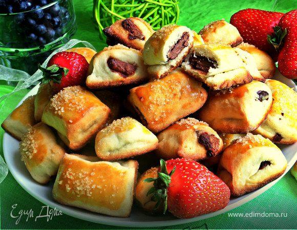 Сметанное печенье с шоколадом и черникой (без яиц)