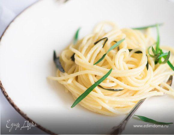 Спагетти с лимоном и эстрагоном