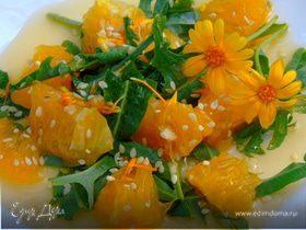 Салат с календулой