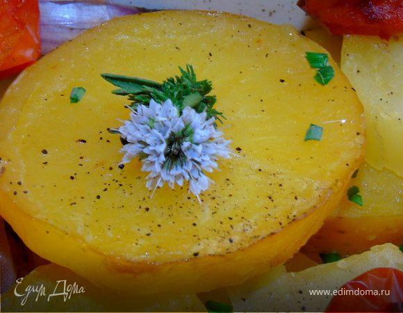 Запеченный картофель с цветущим тимьяном