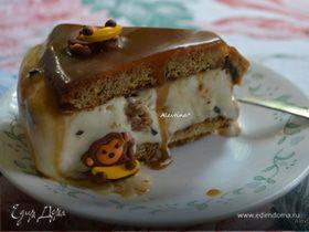 Торт-мороженое с ирисовым соусом