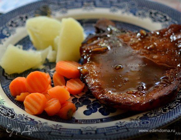Свиные отбивные с апельсиново-имбирным соусом