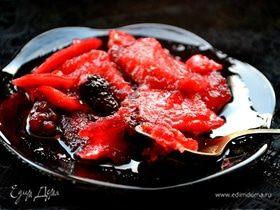Варенье яблочно-ежевичное с лимонными корочками