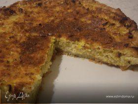 Луковый пирог с сыром и вином