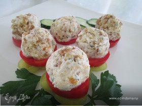 Творожно-овощные колобки с орехами