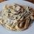 Паста с сливочно-грибным соусом и плавленным сыром