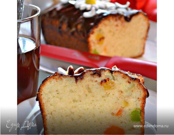 Влажный творожный кекс с цукатами