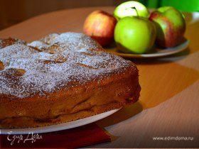 Рецепт шарлотки с яблоками в духовке