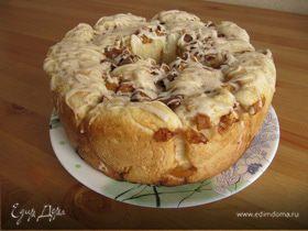 Сдобный хлеб с персиком и карамелью