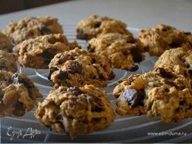 Тыквенное печенье с шоколадом и изюмом