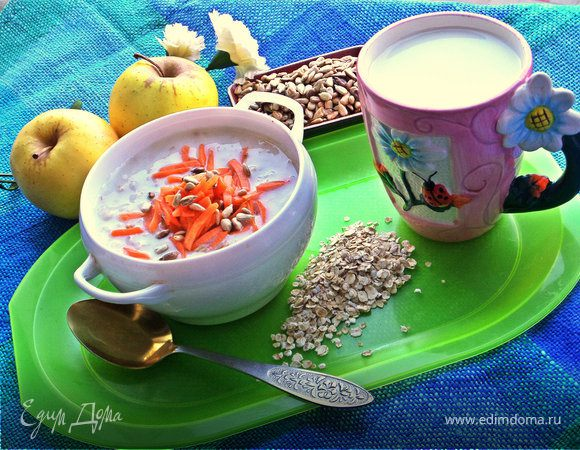 Овсяный суп с морковью