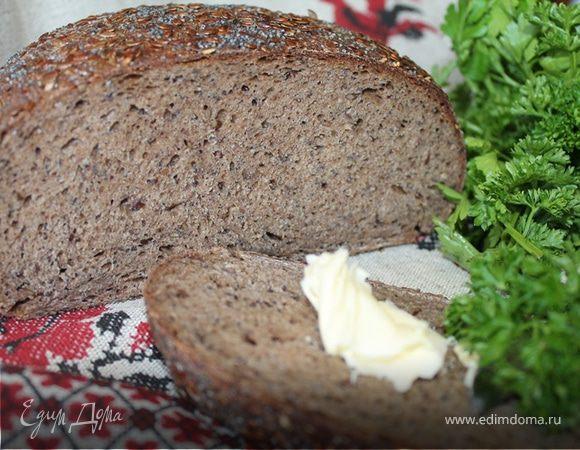 Хлеб на закваске льняной с маком