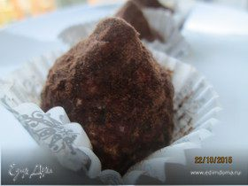 Творожные конфеты с тыквой и хурмой