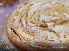 Датский миндальный пирог с яблоками
