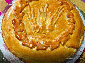 Многослойный луковый пирог