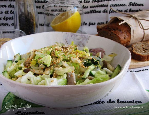 Салат с вешенками рецепт