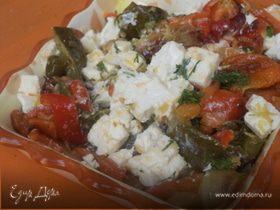 Салат из запеченного сладкого перца с фетой