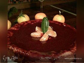 Осенний пирог с хурмой