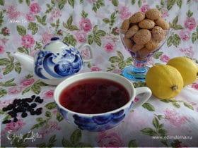 Чай из черной смородины с мятой