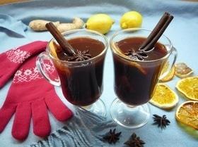 Безалкогольный глинтвейн с курагой и черносливом