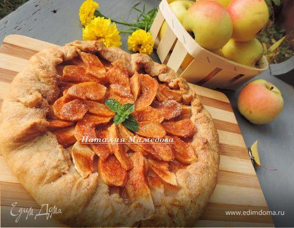 Постная пряная галета с яблоками