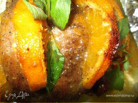 Жаркое из индейки с мандаринами