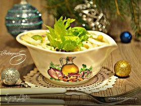 Салат с кальмарами и сельдереем