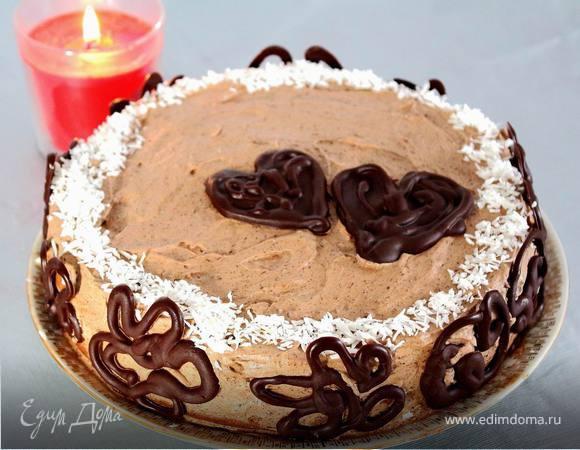 Торт бананово-шоколадный «Про любовь»
