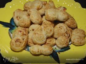 Лимонное печенье из слоеного теста