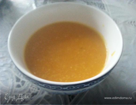 Тыквенный суп с кукурузной крупой (диетический)