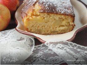 Пирог на сгущенке с яблоком и грушей