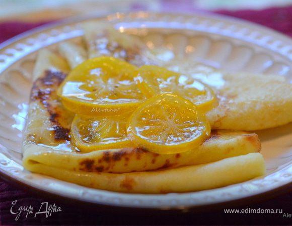 Блинчики с лимонными цукатами