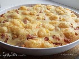 Быстрый пирог с ветчиной и сыром