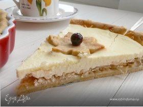 Творожно-яблочный тарт