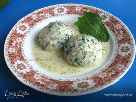 Клецки со шпинатом и сыром