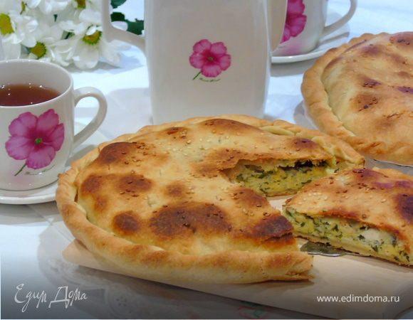 Лепешка с сыром и зеленью