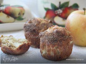 Нежные маффины с яблоком и пеканом