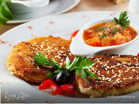 Котлеты гороховые «Фалафели по-арабски» с томатным соусом