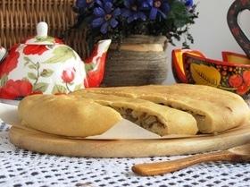 Псковский пирог с солеными грибами (постный)