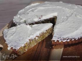 Фисташково-миндальный пирог под лаймовой глазурью