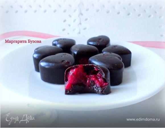 Шоколадные конфеты с малиной