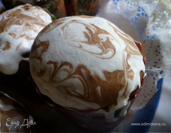 Сахарная глазурь на желатине для куличей