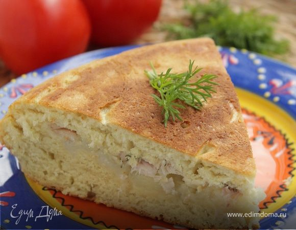 Рецепт яблочного пирога на сковороде не в духовке