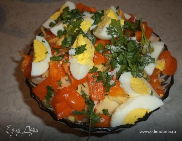 Салат с картофелем, свеклой яблоками и болгарским перцем