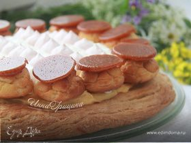 Торт «Сент-Оноре» с малиной