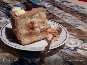 Торт с муссом крем-брюле из мороженого ко дню святых Петра и Февронии