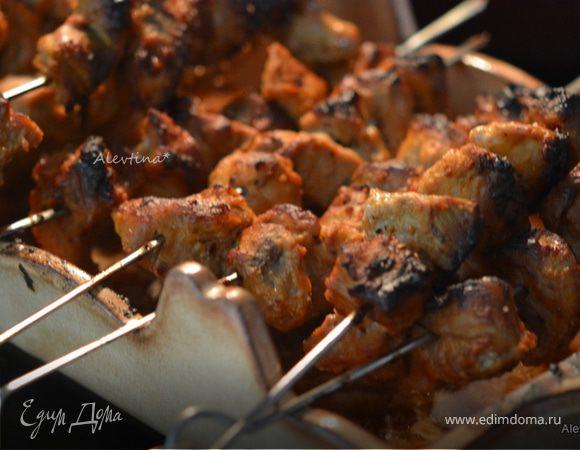 Свиной кебаб с арахисовым маслом