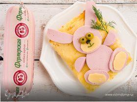 Картофельная запеканка с колбасой