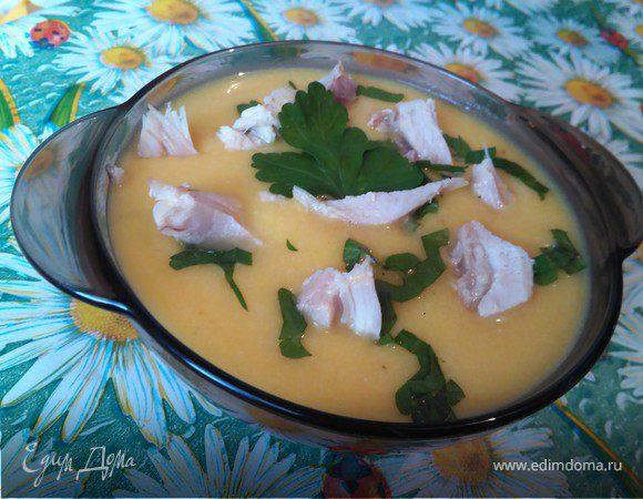 Суп-пюре с тыквой и курицей