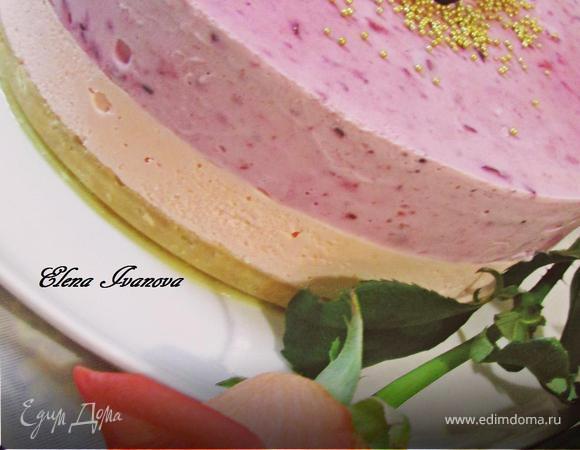 Торт-парфе «Смородиновые облака»